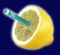 Geldschein in Zitrone